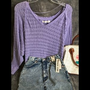 We the free (free people) purple sweater. Large